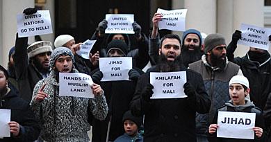 Protestas de la comunidad musulmana en París. | Afp
