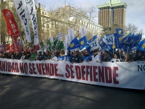 Manifestación en defensa de la Sanidad. | R.B.