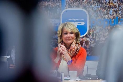 Esperanza Aguirre en el pasado comité de dirección del PP de Madrid. | Gonzalo Arroyo