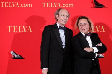 Los modistos Vitorio y Lucchino, en un acto de Telva. | Alberto di Lolli