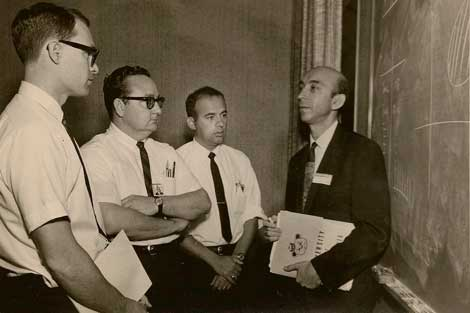 Foto de archivo de Lofti Zadeh en la Universidad de Columbia (EEUU). | Fundación BBVA.