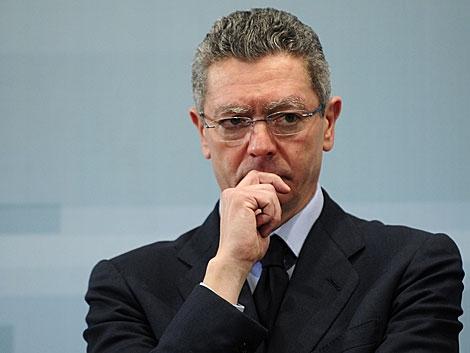 El ministro de Justicia, Alberto Ruiz-Gallardón, el pasado lunes. | Bernardo Díaz