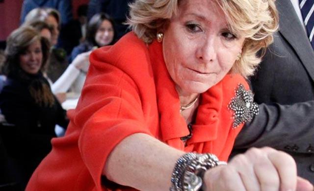 La presidenta del PP de Madrid, Esperanza Aguirre. | Efe
