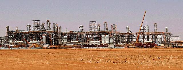 Planta de gas de Statoil en In Amenas.   Efe