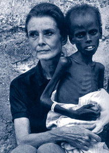 En un viaje a Somalia.