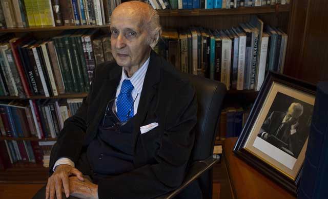Santiago Grisolía, en la Fundación Valenciana de Estudios Avanzados. | Vicent Bosch