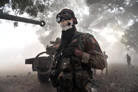 Soldados franceses desplegados en Niono.   Afp