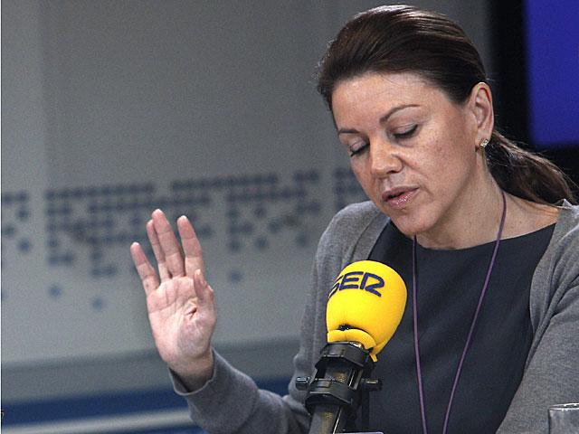 María Dolores de Cospedal, durante la entrevista. | Fernando Alvarado / Efe