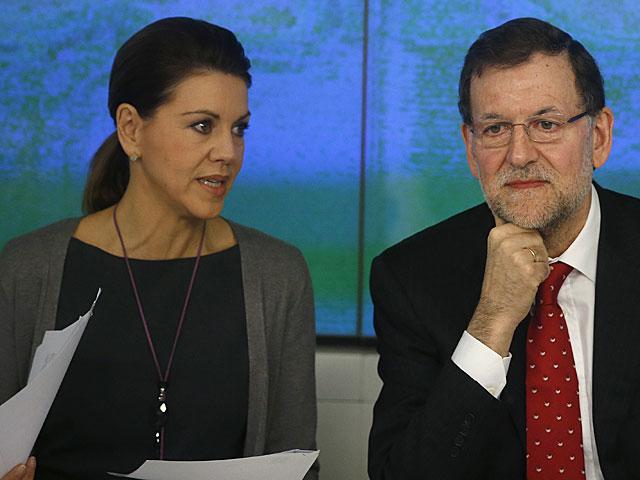 Cospedal y Mariano Rajoy, durante la reunión del Comité Ejecutivo. | Sergio Pérez / Reuters