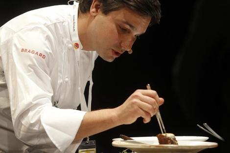 El cocinero brsileño Rafael Cardoso, durante su presentación. | Heredia