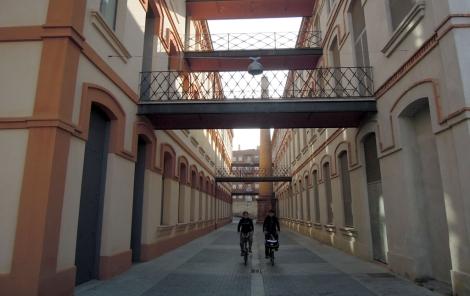 La reformada fàbrica de can Marfà, exemple de la indústria tèxtil de Mataró.