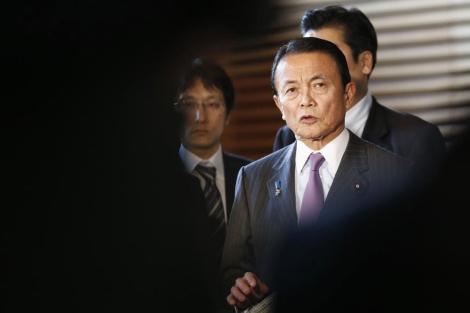 El ministro de Finanzas japonés, en una comparecencia reciente. | Reuters