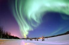 Una aurora boreal en Alaska. | Joshua Strang/USAF