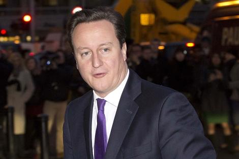 David Cameron, a su llegada a la sede de Bloomberg News, en Londres. | Reuters