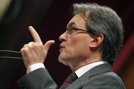 Artur Mas, este miércoles en el Parlamento catalán. | Reuters