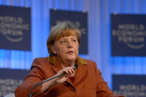 La canciller alemana, Angela Merkel, en Davos. | Afp