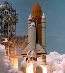 El 'Columbia' durante una de sus misiones antes del accidente.  NASA
