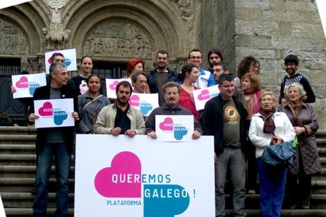 Presentación de la plataforma 'Queremos galego'.