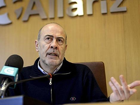 El alcalde de Allariz, Francisco García (BNG), en rueda de prensa. | Brais Lorenzo / Efe