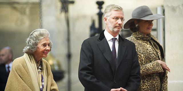 Fabiola de Bélgica, junto al príncipe Felipe y la princesa Matilde. | Gtres