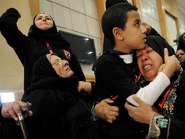 Familiares de las víctimas, tras conocer el fallo contra los acusados. | Efe