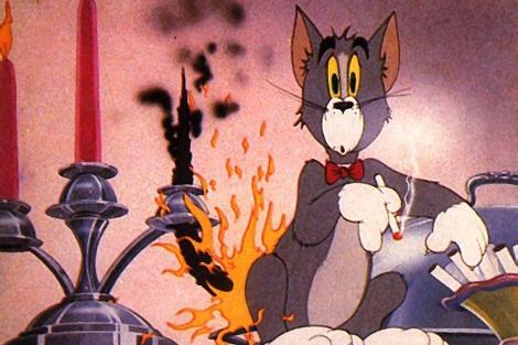 Fotograma de Tom y Jerry, el espacio con más acciones violentas por minuto.
