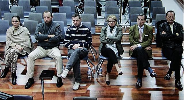 Fotografía tomada del monitor de la sala de prensa de la Audiencia de Málaga. | Efe