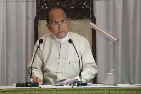 El presidente birmano, Thein Sein, en el Parlamento Regional de Yangon. | Efe