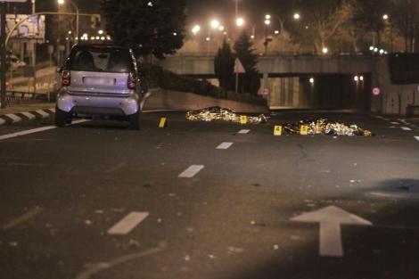 Imagen del coche que ha arrollado a las víctimas. | Paco Toledo