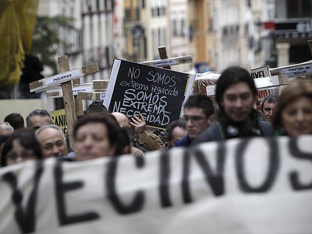Manifestantes de los municipios afectados por el cierre de las urgencias, en Guadalajara, hace unos días. | Alberto Di Lolli
