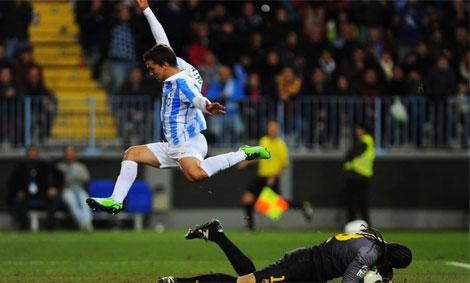 El Málaga-Barça fue lo más visto en Telecinco (6,1 millones de espectadores).   Afp