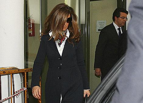La esposa de Bárcenas, Rosalía Iglesias, en el TSJ de Madrid. | A. Cuéllar