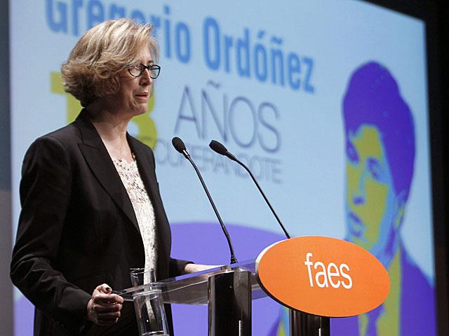 Ana Iríbar, durante su intervención. | Fernando Alvarado / Efe