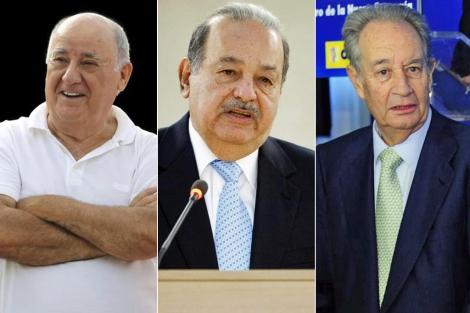 Amancio Ortega, Carlos Slim y Villar Mir.   ELMUNDO.es