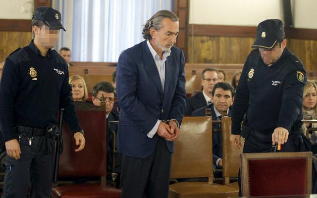 Francisco Correa, durante el juicio de los 'trajes' en el TSJ de Valencia. | Efe