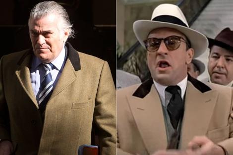 Bárcenas y Robert de Niro caracterizado como Al Capone.