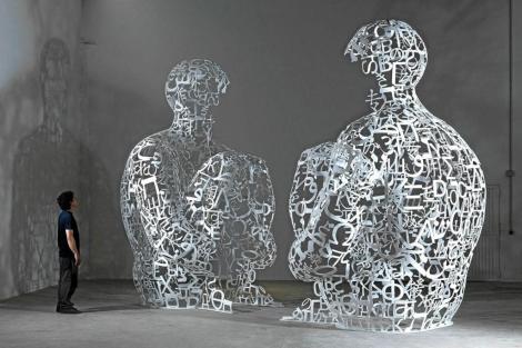 Una de las esculturas del artista Jaume Plensa.   ELMUNDO.es