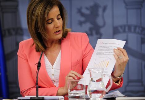La ministra de Empleo, Fátima Báñez.   Bernardo Díaz