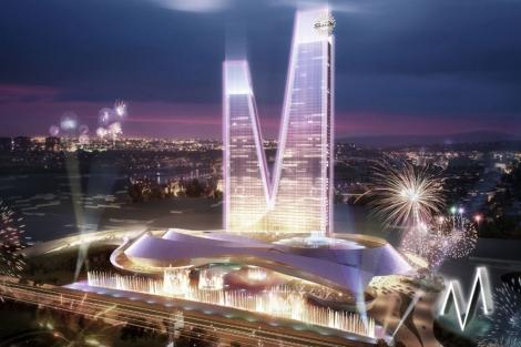 Recreación del edificio 'M' de Eurovegas. | E. M.