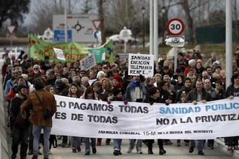 Imagen de la manifestación en Villalba. | Di Lolli