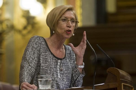La portavoz de UPyD en el Congreso, Rosa Díez. | Gonzalo Arroyo