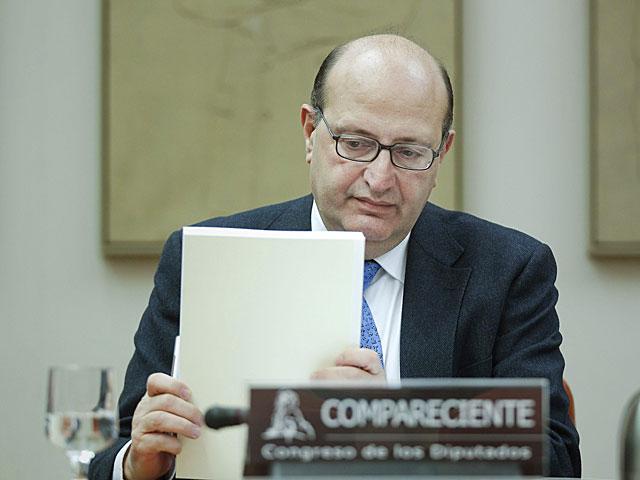 Ramón Álvarez de Miranda, durante su comparecencia.   Emilio Naranjo / Efe