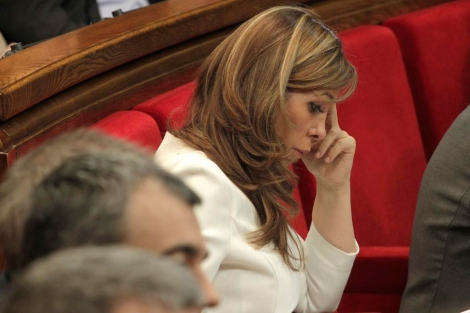 Alicia Sánchez-Camacho en el Parlament.