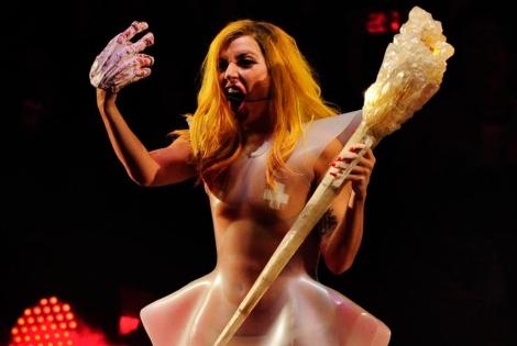 Lady Gaga en un concierto en Madrid.   Gonzalo Arroyo.