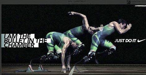 Imagen de uno de los anuncios publicitarios protagonizados por Pistorius.