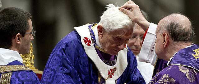 El Papa durante la misa del Miércoles de Ceniza
