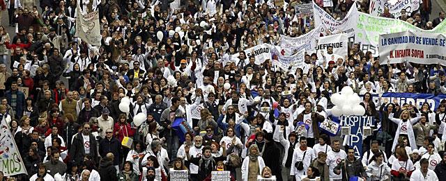 Marea Blanca Madrid protestas