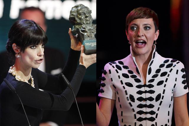 Maribel Verdú y Eva Hache, dos de las más reivindicativas en la gala.| Reuters/Alberto Di Lolli