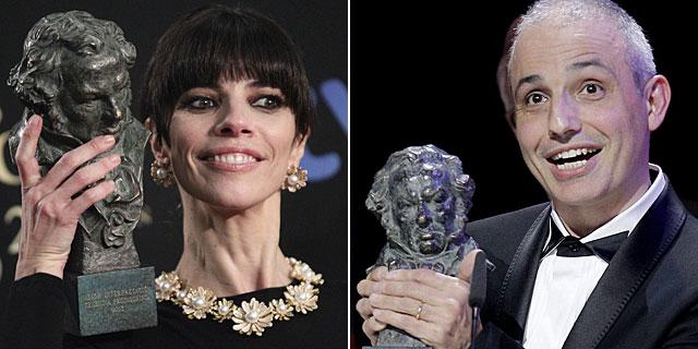 Maribel Berdú y Pablo Berger, con los premios a mejor actriz y mejor película. | Efe