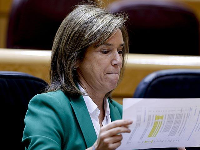 Ana Mato, la pasada semana en su butaca en el Congreso. | Gonzalo Arroyo